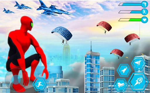 Spider Rope Hero Man: Miami Vise Town Adventure modavailable screenshots 7