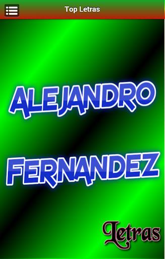 Letras Alejandro Fernandez