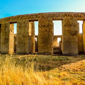 Stonehenge Memorial by Dennis Mai - Buildings & Architecture Public & Historical ( washington, stonehenge, gorge, colubmia, mary hill, stone )