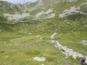 Photo: in alto il sentiero che porta al passo Ignaga