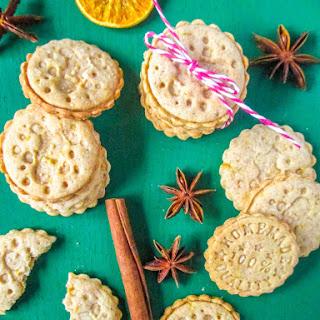 Orange Shortbread Stamped Cookies.