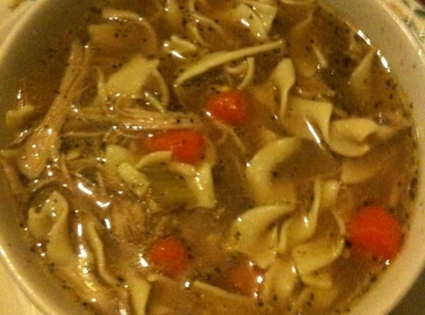 Nana's Chicken Soup With A Lil Of Me Thrown In Recipe