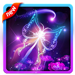 Fluorescent Butterfly HD Icon