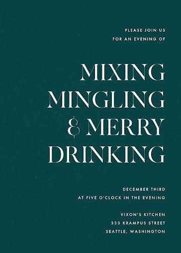 Mixing & Mingling - Card Template