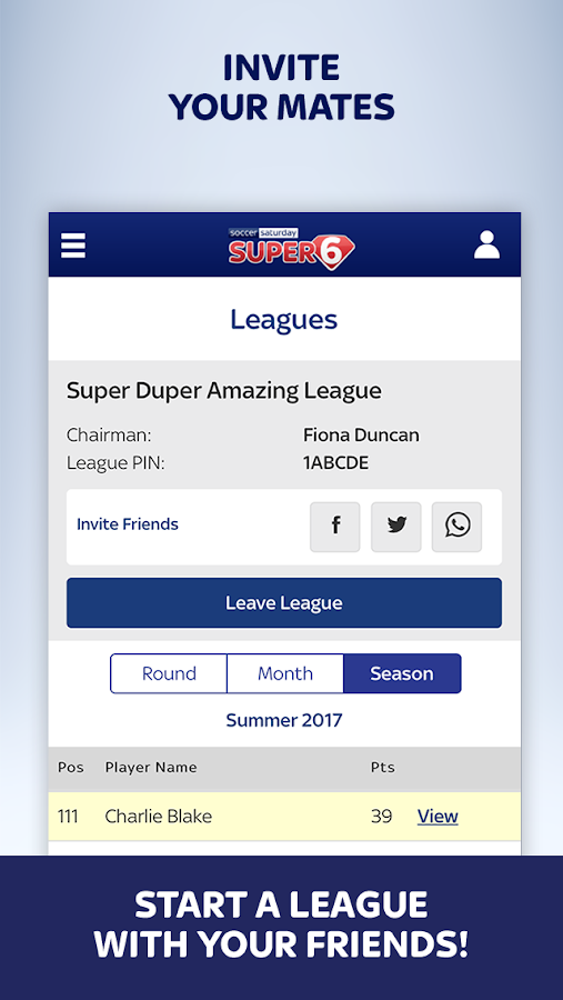 Super 6- screenshot