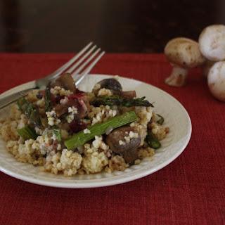 Asparagus and Mushroom Millet Pilaf.