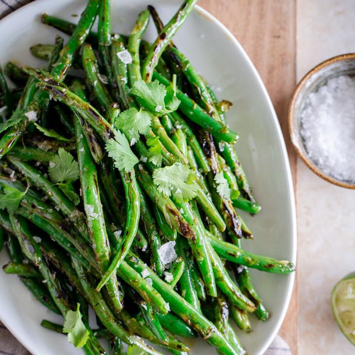Charred Green Beans with Cilantro-Lime Vinaigrette Recipe