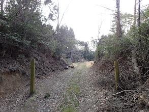 ゲート先で東海自然歩道と合流