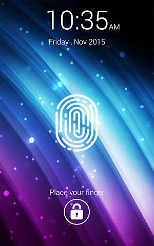 android Fingerprint Lock Screen Prank Screenshot 1