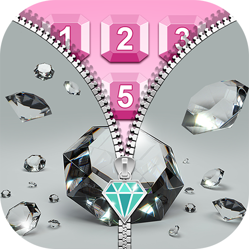 Diamond Zip Lock Screen