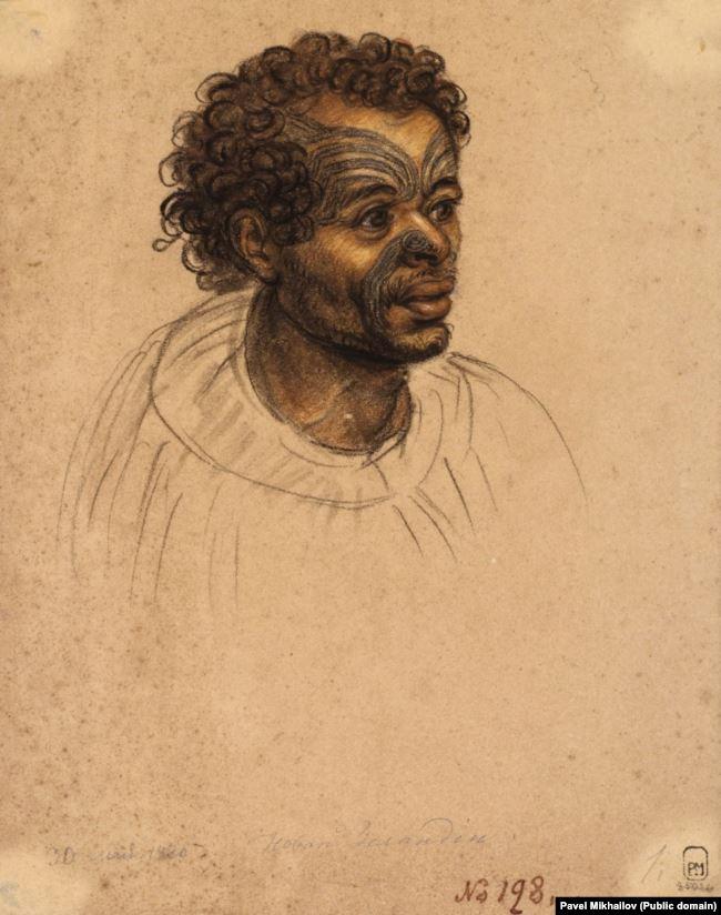 Мужчина из племени маори.