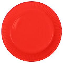 Tallrik, röd