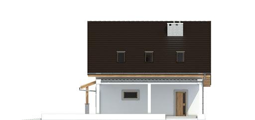 Turkawka II z garażem i wiatą A1 - Elewacja prawa