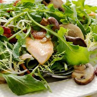 Warm Mushroom and Chicken Salad with Bacon