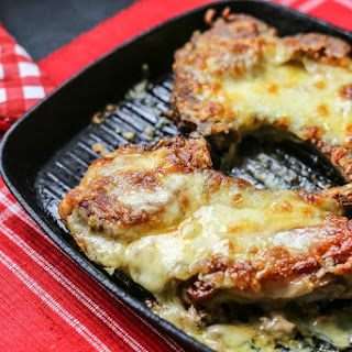 Cheese Stuffed Pork Chops.