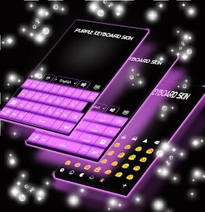 Fialová kůže na klávesnici - náhled