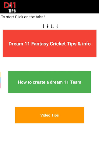 Fantasy 11 cricket Tips - Dream11 Team Predictions 6.6 screenshots 1