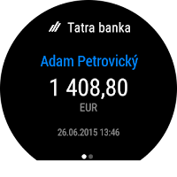 Screenshot of Tatra banka