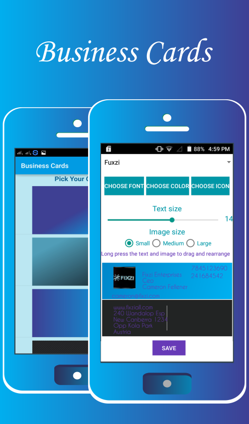 Business cards maker android apps on google play business cards maker screenshot reheart Choice Image