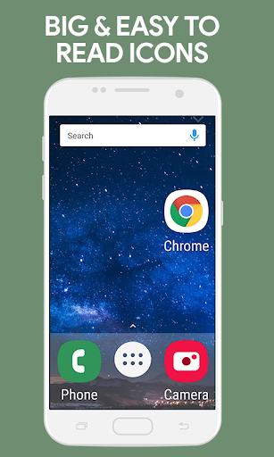 Screenshot for Simplified Home Screen - Launcher and Easy Icons in United States Play Store