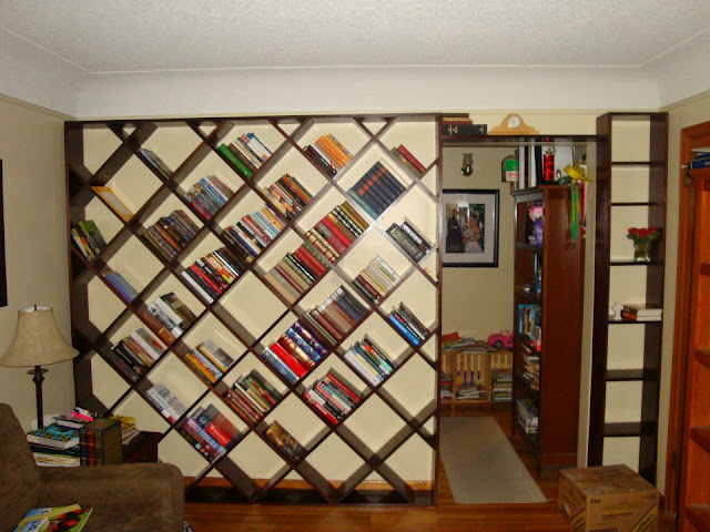 Echoes In Eternity Diagonal Bookshelf Plans