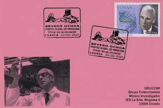 Photo: Matasellos de Primer Día de Circulación del sello de Severo Ochoa