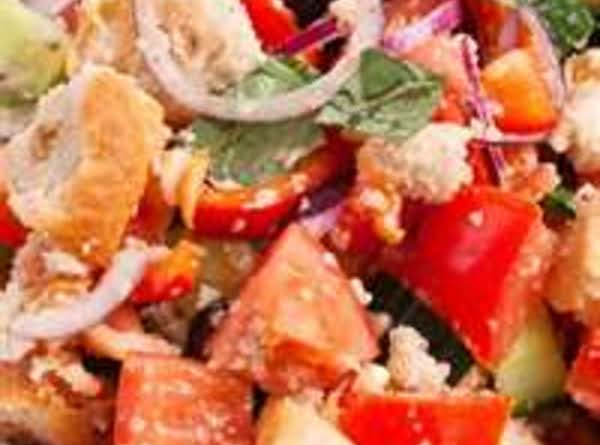 Panzanella Salad [italian Tomato And Bread Salad] Recipe