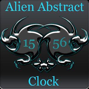 Alien Abstract Digital Clock