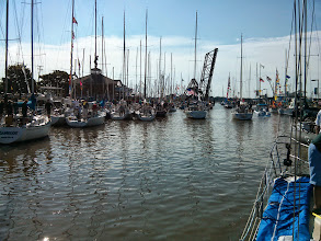 Photo: Headed out for the start of the Port Huron to Mackinac Island Race