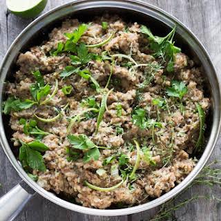 Buckwheat Mushroom Risotto.