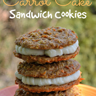 Carrot Cake Sandwich Cookies with Cream Cheese Frosting