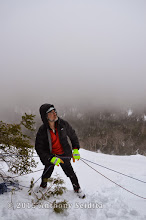 Photo: Kevin on belay.