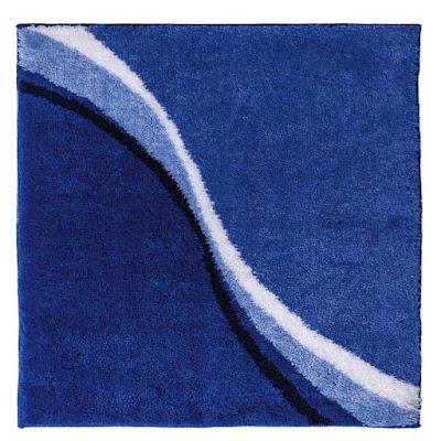 Коврик для ванной комнаты Ridder Barney синий 60х50 см