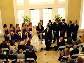 Photo: Thornblade Club Greer, SC Wedding Officiant, Marriage Minister, Notary, Justice Peace - Brenda Owen - Handfasting Ceremony - http://www.WeddingWoman.net