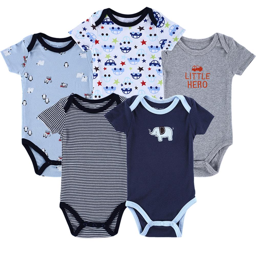 Body niemowlęce wielopak  dla chłopca z krótkim rękawem