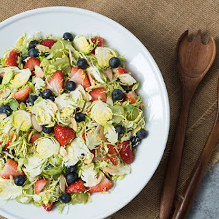 Brussels Sprouts & Berries Salad.