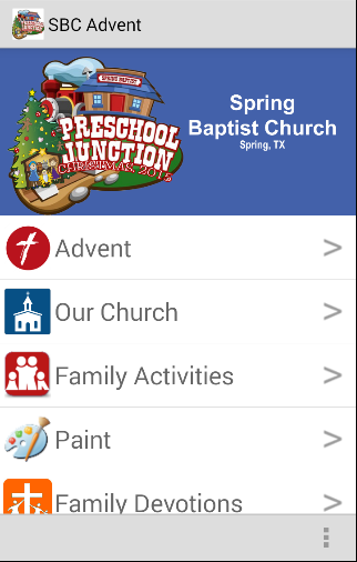 SBC Preschool Christmas Advent