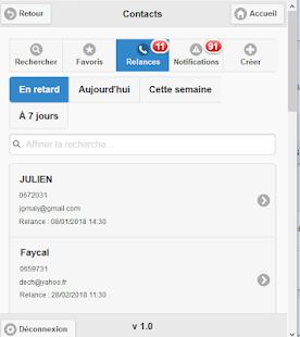 HOGUNSOFT CRM Capture d'écran