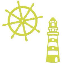 Kaisercraft Dies - Lighthouse & Ships Wheel UTGÅENDE
