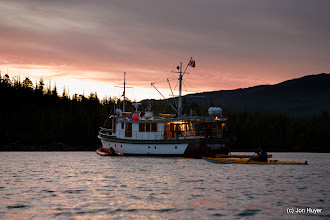 Photo: On our last day, there was time for a sunrise paddle before we had to motor to Prince Rupert.