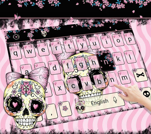 Sugar Skull Keyboard Theme Pink Bow Skull Apps On Google Play