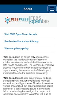 FEBS Open Bio- screenshot thumbnail