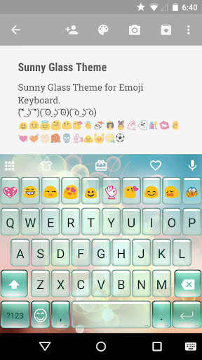 Sunny Glass Emoji Keyboard