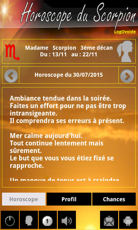 Scorpio Horoscope- screenshot