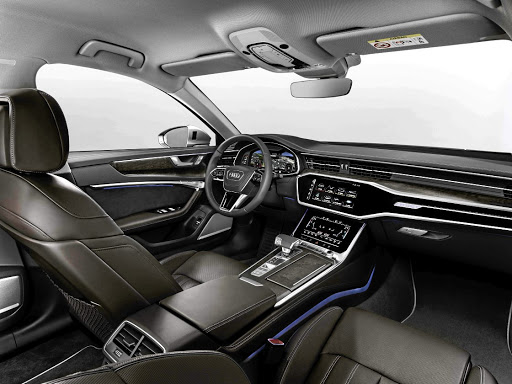 The interior is largely from the A7 featuring more touchscreen and more technology. Picture: AUDI