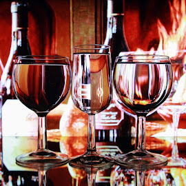 drinks and  glasses by Peter Salmon - Food & Drink Alcohol & Drinks