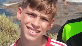 El pequeño Marcos Mohedano, fallecido hoy en Huécija.