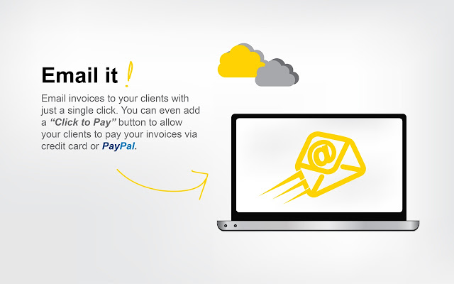 Free Invoice PDF Templates Chrome Web Store - Email invoice to client