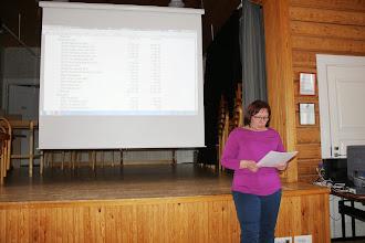 Photo: Riitta esitteli vuoden 2014 tilinpäätöksen.