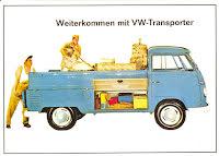 Transporter Pickup blå